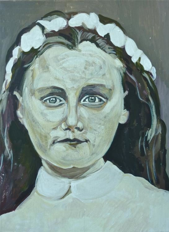 "Aus der  Serie ""mich anschauen"" 2014 - 55 Porträts 30x40 - Acryl auf Leinwand/Holz"
