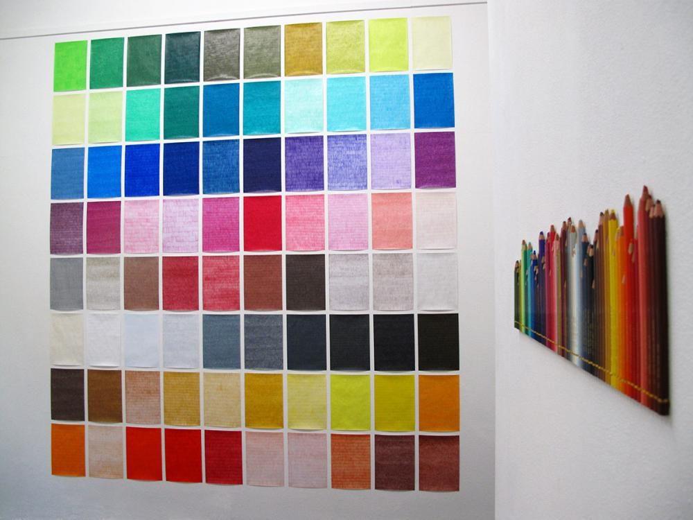 80 colour pencils, 2012, A4 Papier 80g, Farbstifte, Heft