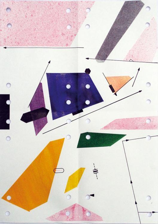 Morphing texture #1, 2015, Papier, Tusche, Locher, 29,7 x 21 cm