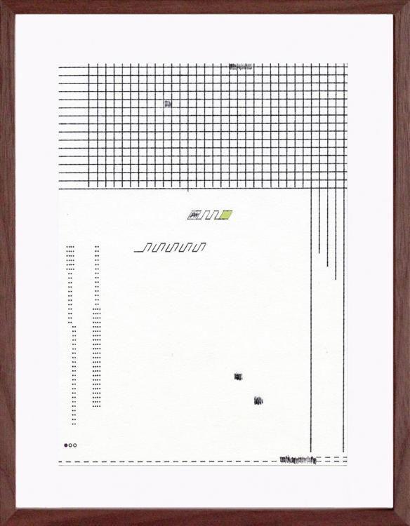 Olympia Traveller de Luxe Nr. 9, 2014, Schreibmaschine, Farbstifte, Kugelschreiber, 21 x 14,8 cm