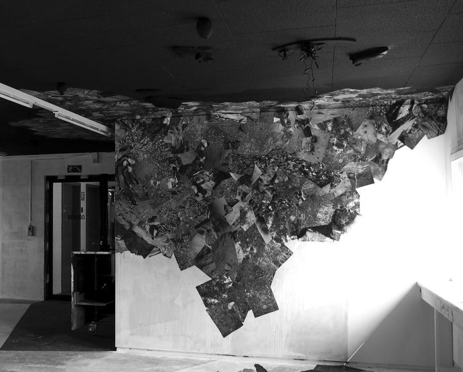 Flimsetüden im Vorzimmer, 2013, Rauminstallation mit Digitaldrucken