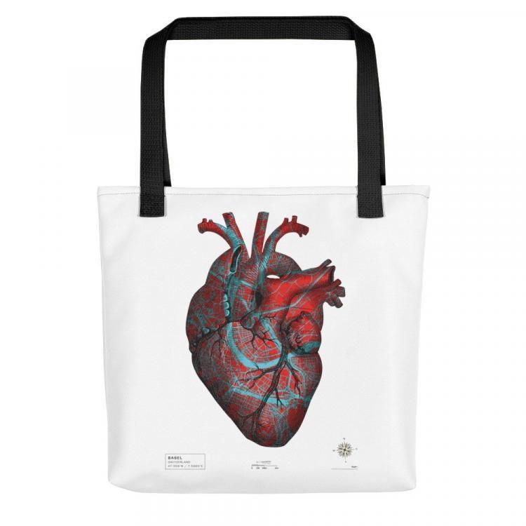 STREETHEART Tote Bag, 2019, ca.42x42cm, #baselcitymapping Printed Tote Bag