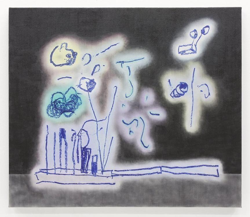 Blow-Up 110, 2014, 60 x 70 cm, Öl und Graphitpulver auf Leinwand