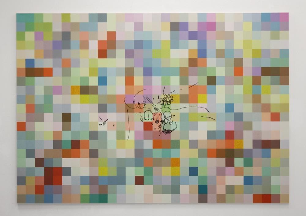 Blow-Up 80, 2007, 210 x 300 cm, Öl auf Leinwand