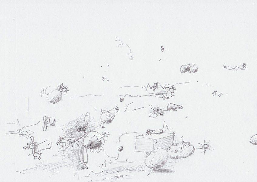 Zeichnung, 2007, 21 x 29,7 cm, Bleistift auf Papier