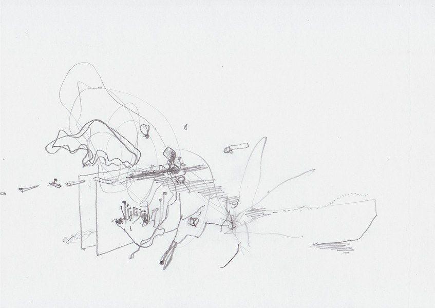 Zeichnung, 2008, 21 x 29,7 cm, Bleistift auf Papier