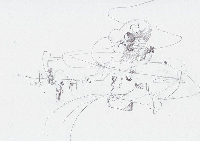 Zeichnung, 2009, 21 x 29,7 cm, Bleistift auf Papier