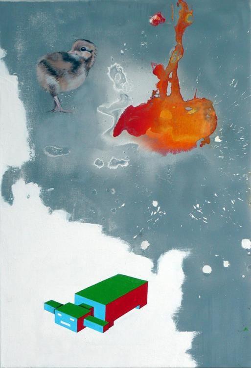 o.T., 2013, 50 auf 70 cm, Acryl auf Leinwand