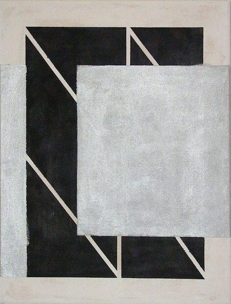 Ohne Titel, 2011  Gesso, Acryl auf Leinwand, 55 x 42 cm