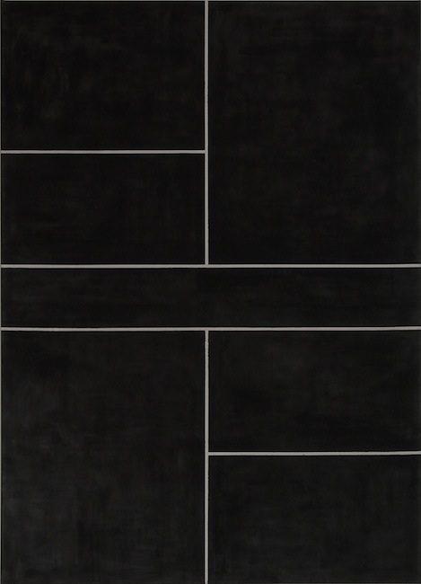 Ohne Titel, 2013 Gesso, Acryl auf Leinwand, 180 x 130 cm