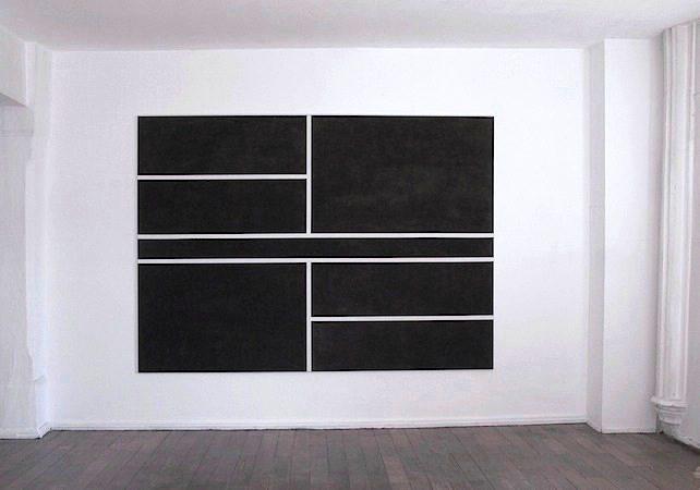Ohne Titel, 2009 Gesso, Acryl auf Leinwand, 190 x 265 cm