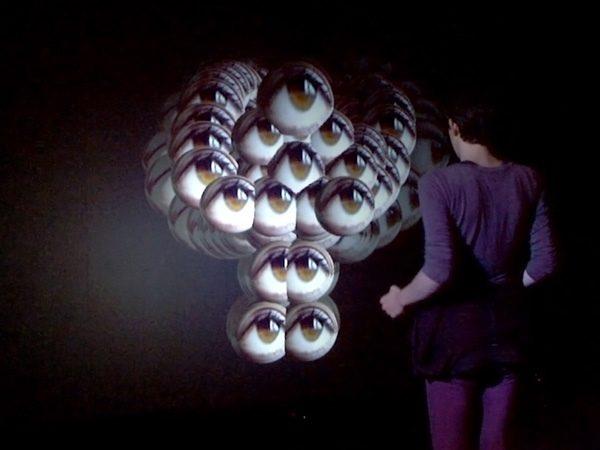 Körperfelder, 2011, interaktive Videoinstallation