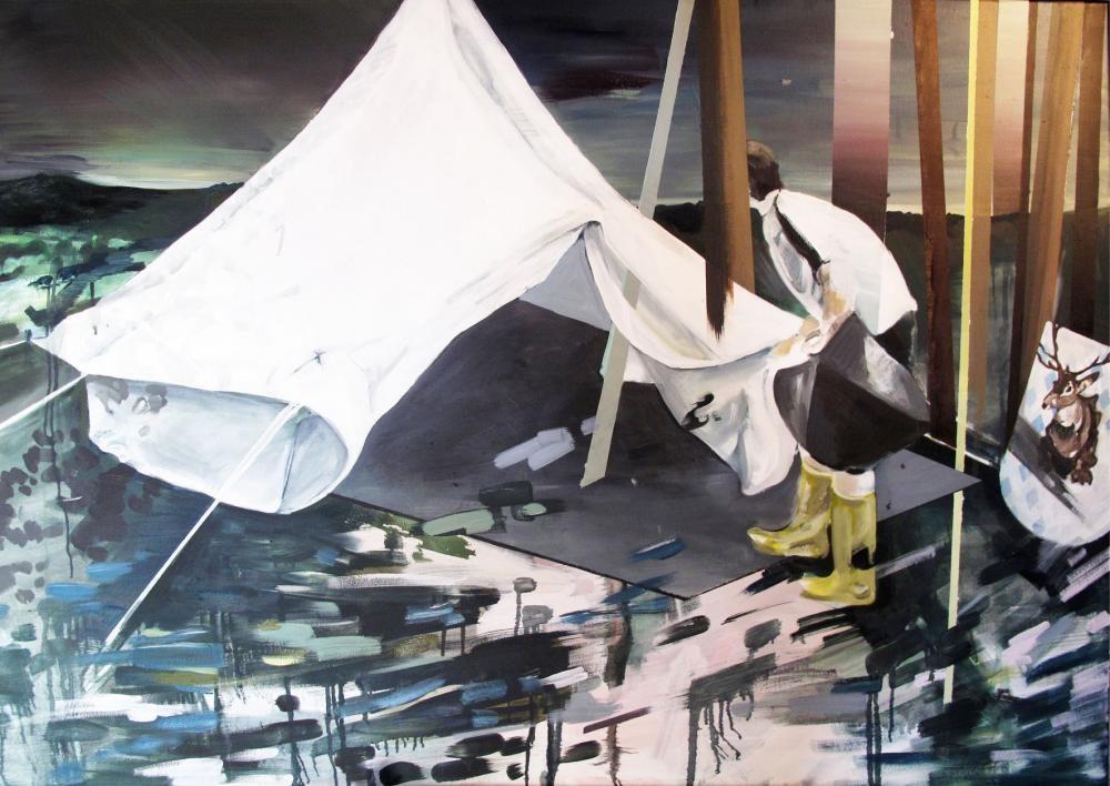Das Zelt, 2011, Öl und Acryl auf Leinwand, 140x100cm