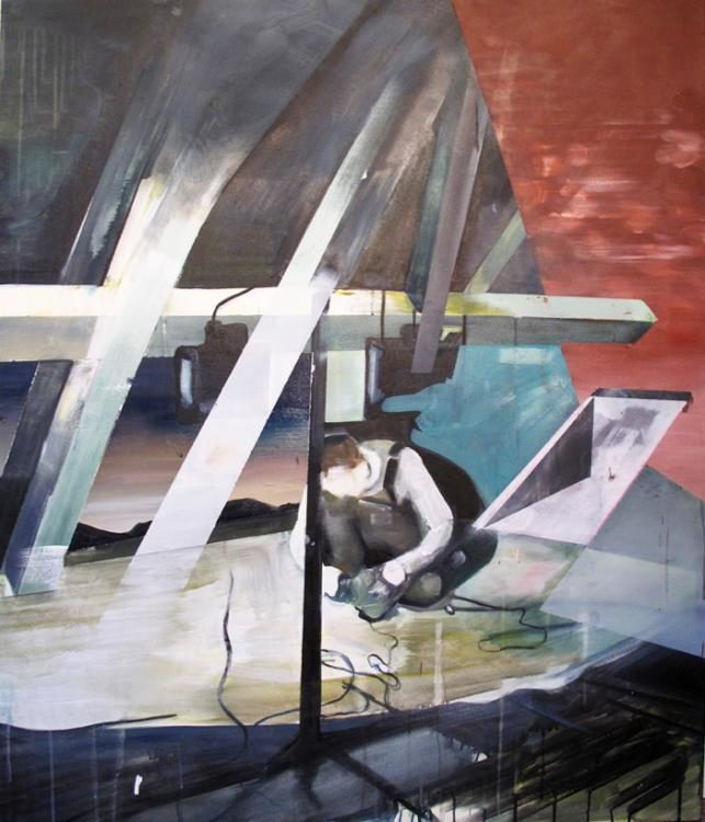 James, 2011, Öl und Acryl auf Leinwand, 100x120cm