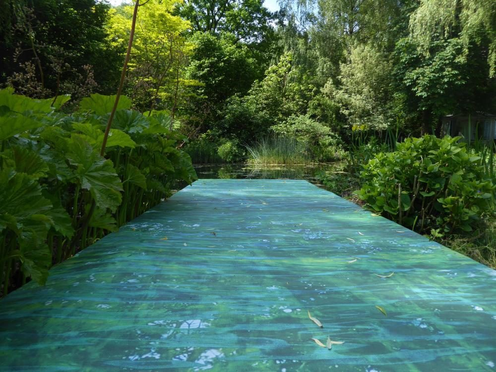 Galerie und Skulpturenpark Weiertal, Grenzenloses Wasser, Digitaldruck auf Mesh