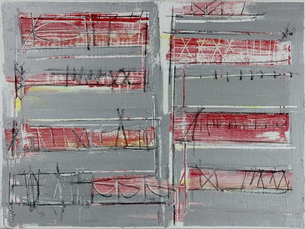 Zeichenkodex 2012/4 2012 Kreide Oel und Eisenglimmer auf Leinwand 60 x 80 cm