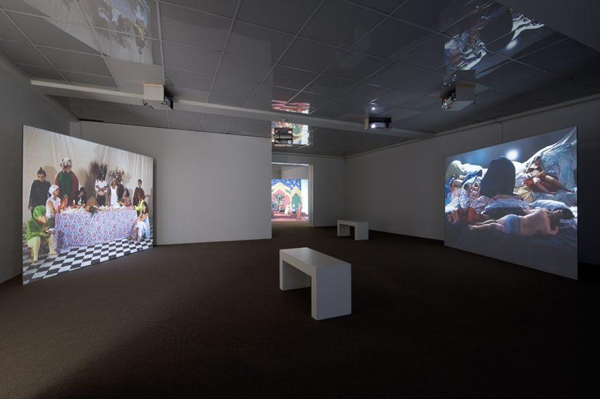 Tableaux Vivant, 4-Kanal Videoinstallation, Ausstellungsansicht 2010, KHBL Muttenz