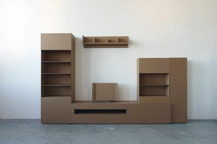 Wohnwand, personalisiert | 2015 | 300 x 200 x 40 cm | Wellpappe
