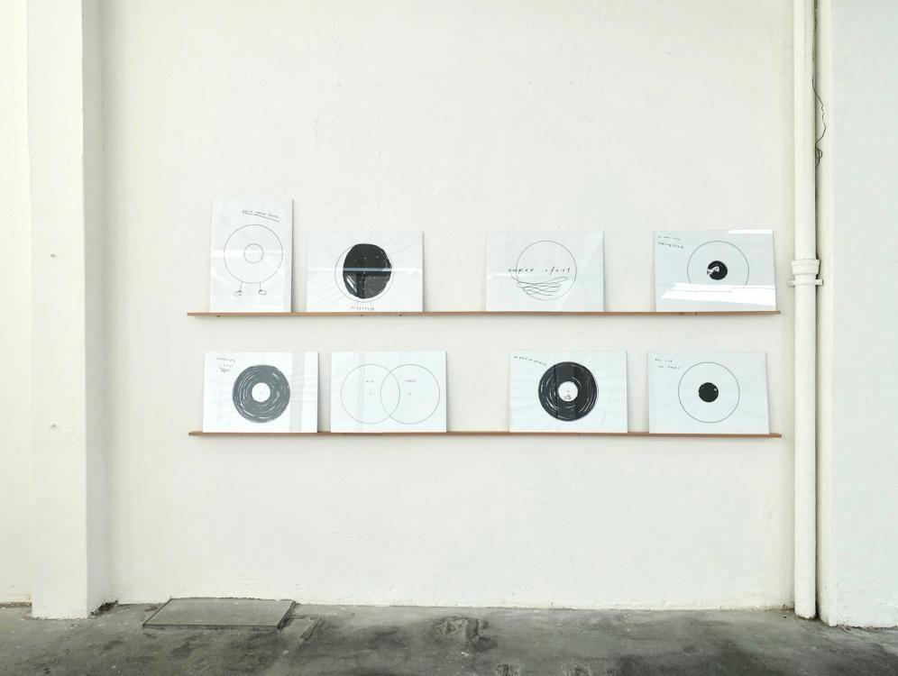 Vinyl, 2018, Format A3, Marker auf Papier