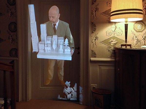 Auf Augenhöhe, 2014 Christoph Merian Skulptur, Video-Installation,  7 min, ohne Ton, Loop