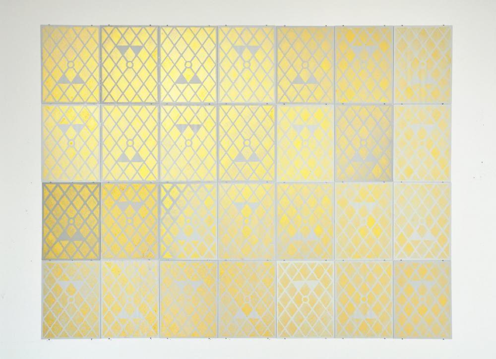Wandobjekt o.T., 2014, 95cm x 124cm x 0,2cm, Spiegel, Farbe