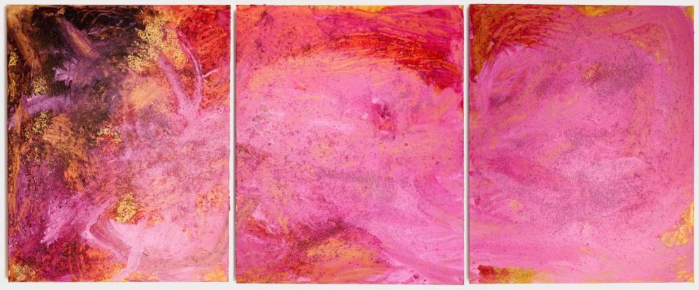 «TRANSMUTATION» (2014) ,3 x 80x100cm, Acryl, Salz auf Leinwand