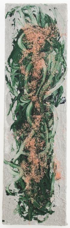 «Climbing Blooming joy» (2012)  70x20cm, Acryl, Sand, Salz auf Leinwand