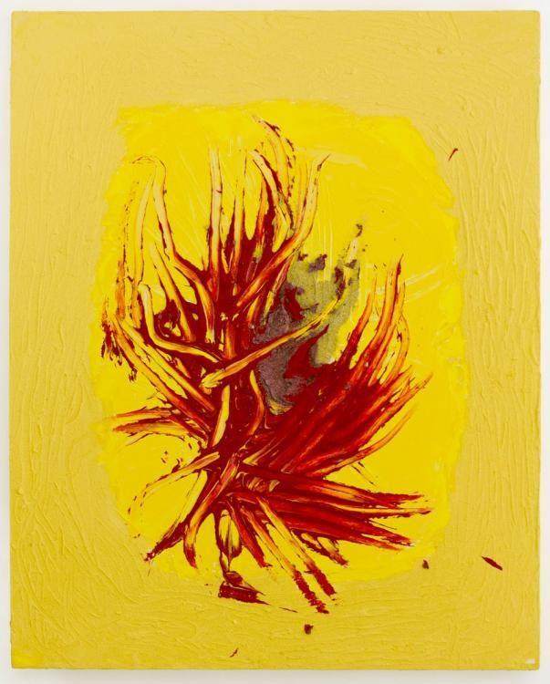 «Die ungezähmte Kraft der Liebe» (2012) 100x80cm, Acryl, Sand auf Leinwand