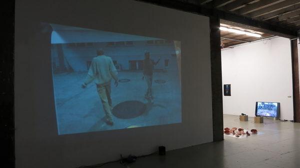 Videoinstallation im Kasko; mit Lena Eriksson, Radikaler Handarbeitszirkel Hamburg, Marianne Vogler, April 2019
