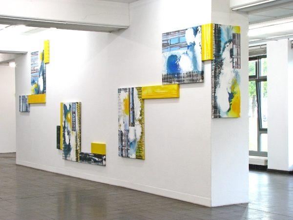 Anarchie und System, Mixed Media auf Leinwand, mehrteilig, 2009. Kunstraum Stapelhaus, Köln, 2011