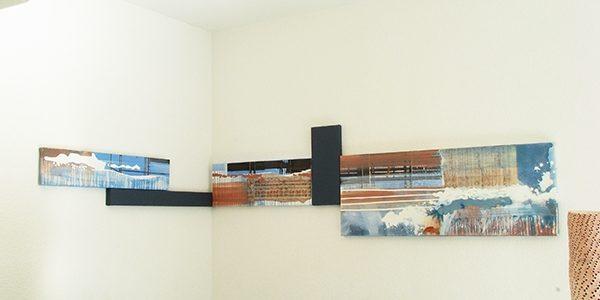 Anarchie und System, installative Hängung in der Galerie Mäder, Basel, 2010