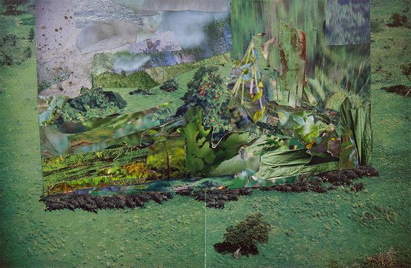 ohne Titel   2019   Analoge Collage auf Papier   33 x 49 cm