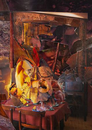 ohne Titel   2019   Analoge Collage auf Papier   34 x 24 cm