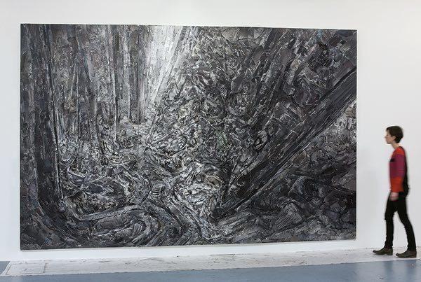 Landscape Nr.14 | 2017-2018 | 300 x 465 cm | Analoge Collage auf Leinwand, dreiteilig