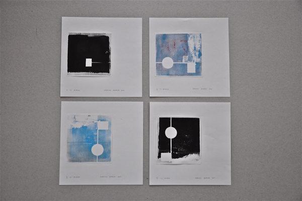 Cadaqués, relief prints, 2011, 10 x 10 cm, Papier