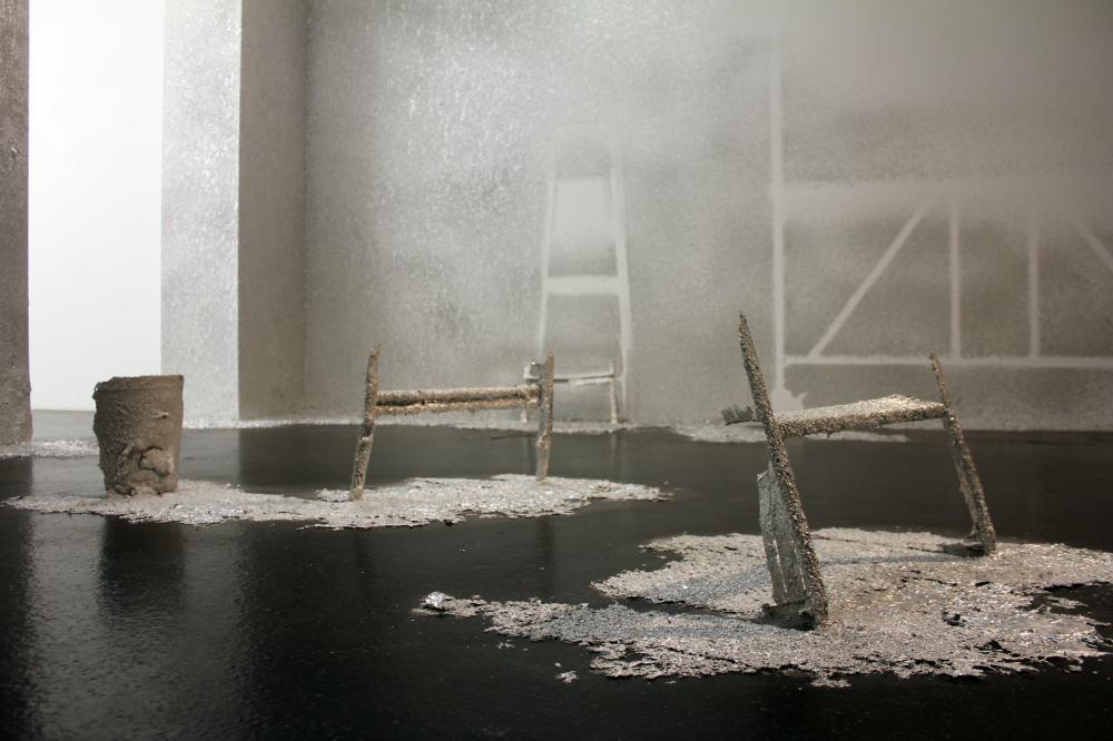 Pneuma, Raum Installation, Zinn, Aargauer Kunsthaus, 2012