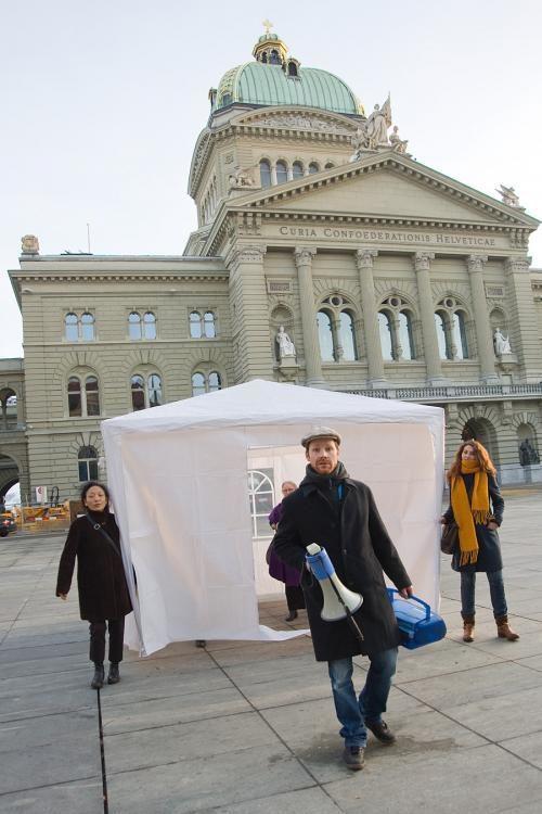 UNSCHÄRFE No 2, Happening Stadtgalerie Bern 2010