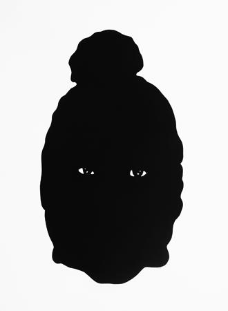 Pussy-Mask 2013, Acryl auf Papier, 62 x 45cm