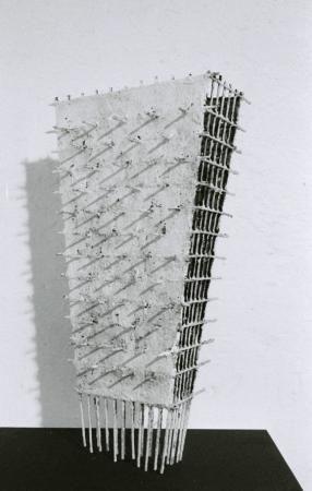 un souvenir II 2014 51 x 33 x 22 cm Eisen, Gaze, Lehm, Kalk