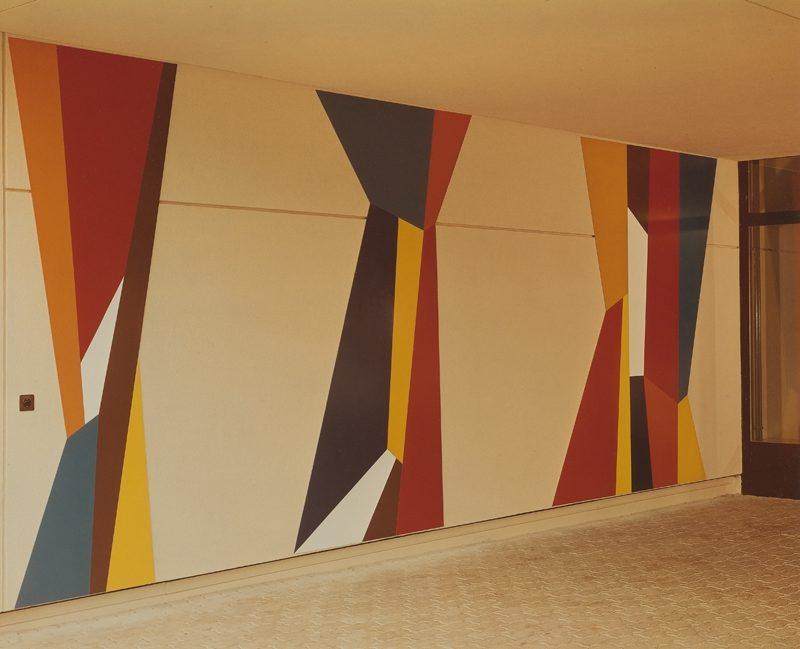 Progression, Kunstharzfarbe 1974, Schulhaus Frenkenbündten Liestal
