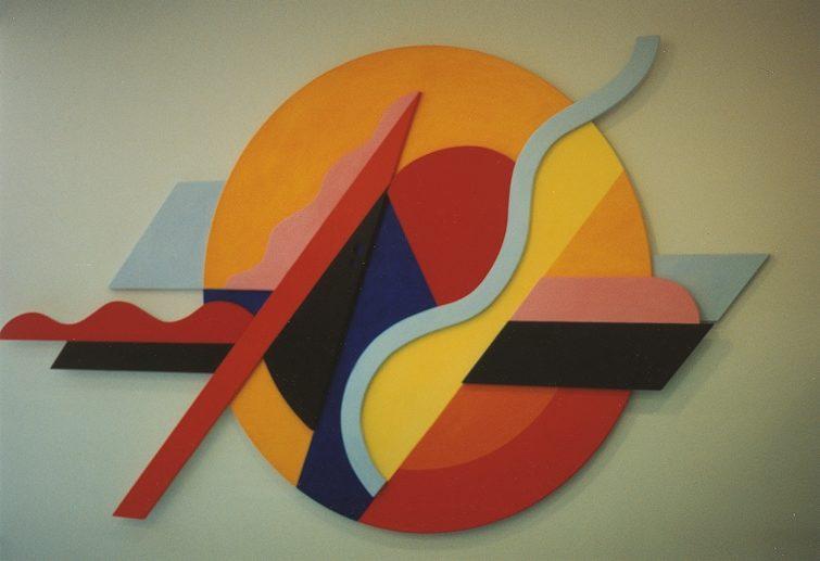 Integration, Acryl auf Trägerplatten 1992, Novartis Basel