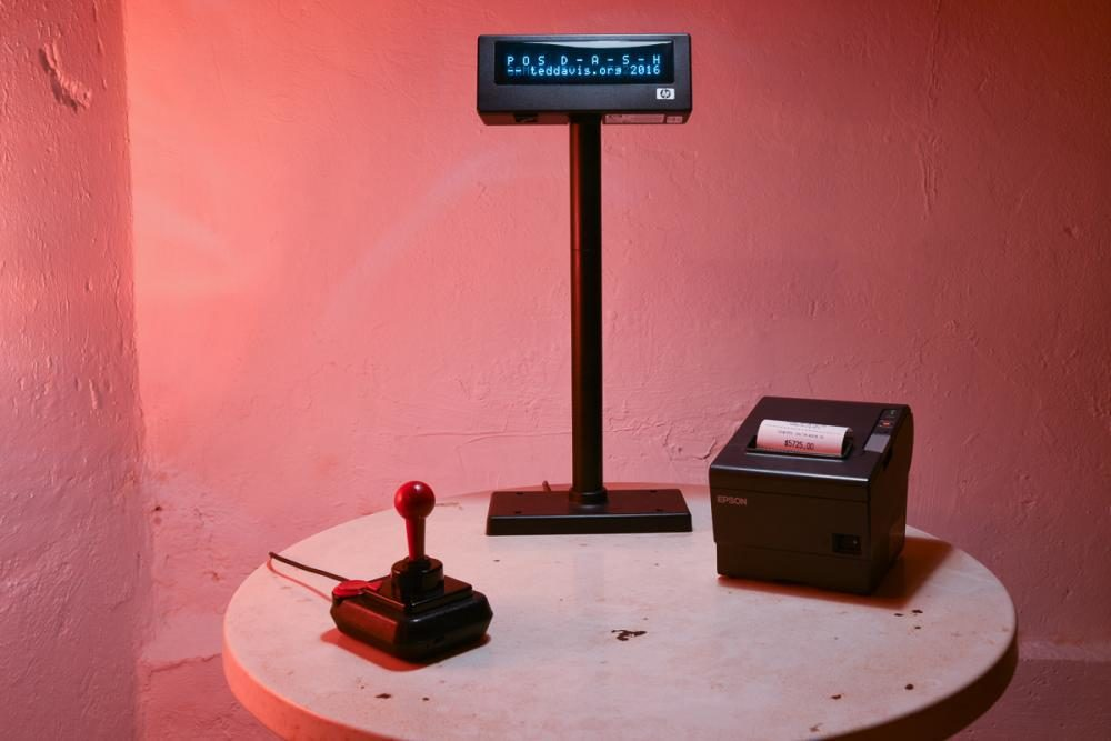 POS D-A-S-H, 2016, variable size, POS display, thermal printer, joystick, computer with custom software