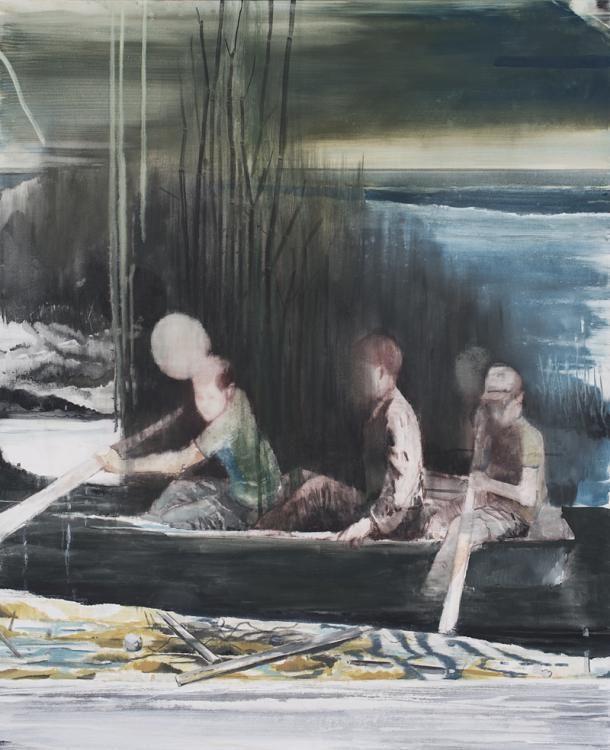 O.T. 2013, Pigment, Acrylharz auf Leinwand, 184 x 150 cm, Kat.Nr. 490
