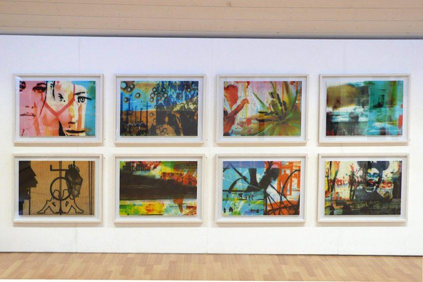 Vertrautes und Verdrängtes, 2014, Airbrush digital auf MDF, je 60 x 80 cm