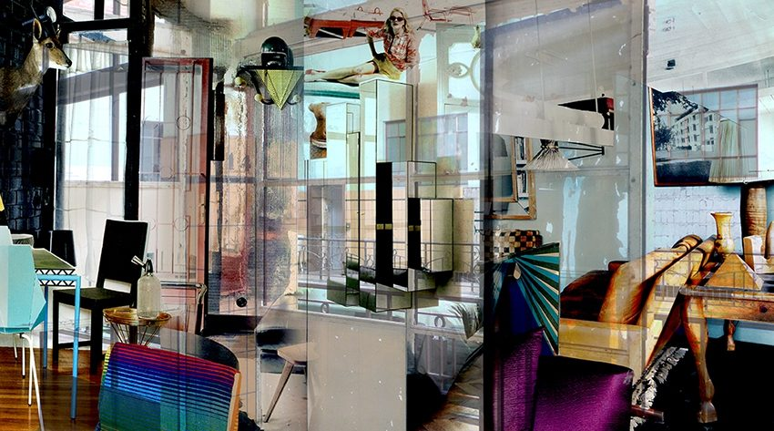 Schöner wohnen. 2012, Digitaldruck auf Glas mit UV aushärtender Tinte, 250x138 cm