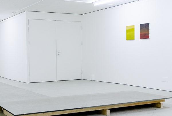 SHE TURNED TO A BLANK PAGE, Öl auf Leinwand je 40 × 34 cm, 2018