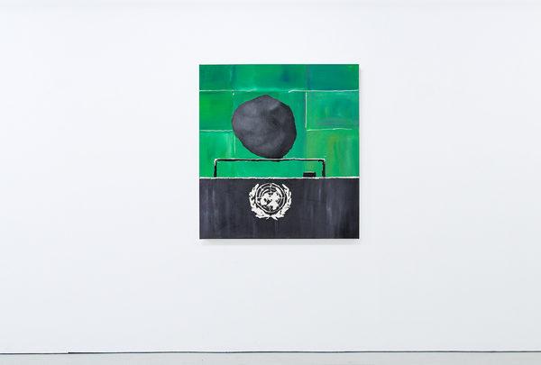 THE SPEAKERS SERIES, Öl auf Leinwand 110 × 100 cm, 2019
