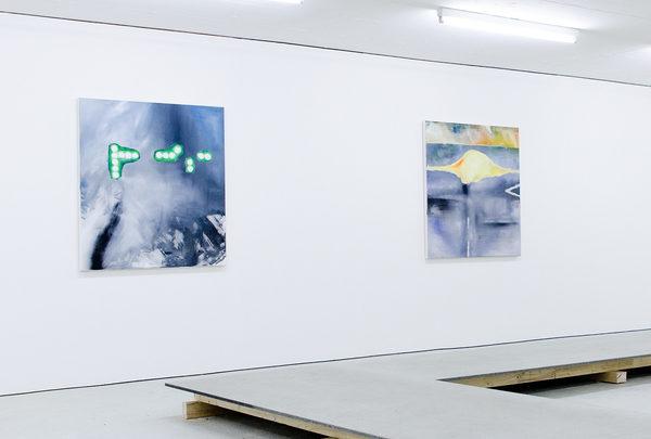 WOMAN DRIVING, MAN SLEEPING, Acryl auf Leinwand je 110 × 100 cm, 2018
