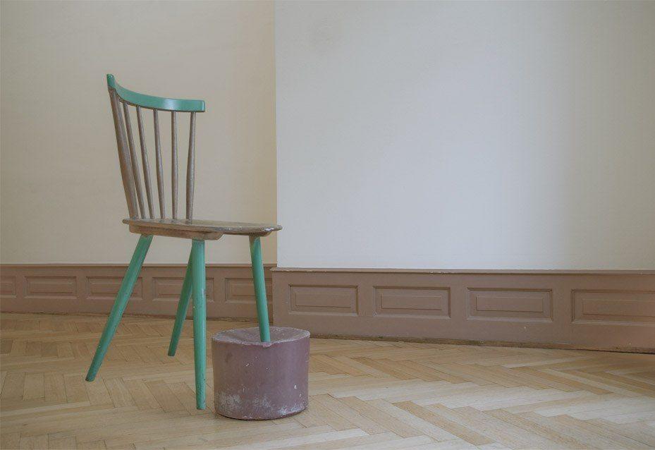 "Objekt, ""Series Wax Chair 15102013"", ""Melancholie Studio"" Villa Renata, Basel, 2014"