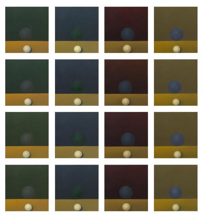 Casting My Soul 01, 2011, 16-teilig, 160 x 150 cm, Oel auf Leinwand